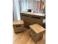 Large chest of drawers and matching side cabinets
