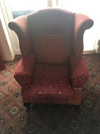 Rust colour armchair £5