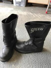 Child's motorbike boots - vgc