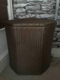 Lloyd Loom wicker basket gold genuine art deco style storage