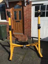 Weight bench and rack