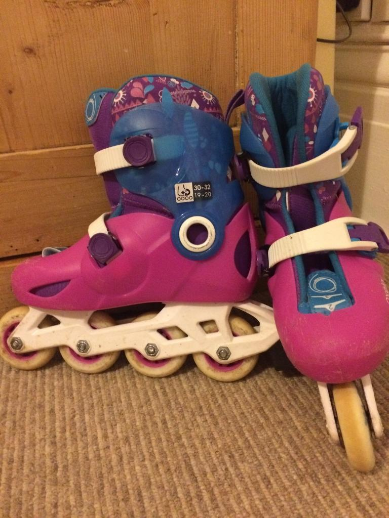 Girls' Oxelo Roller Blades size 11.5-13 UK 30-32