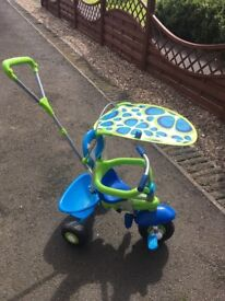Smart trike 3 in 1 green and blue