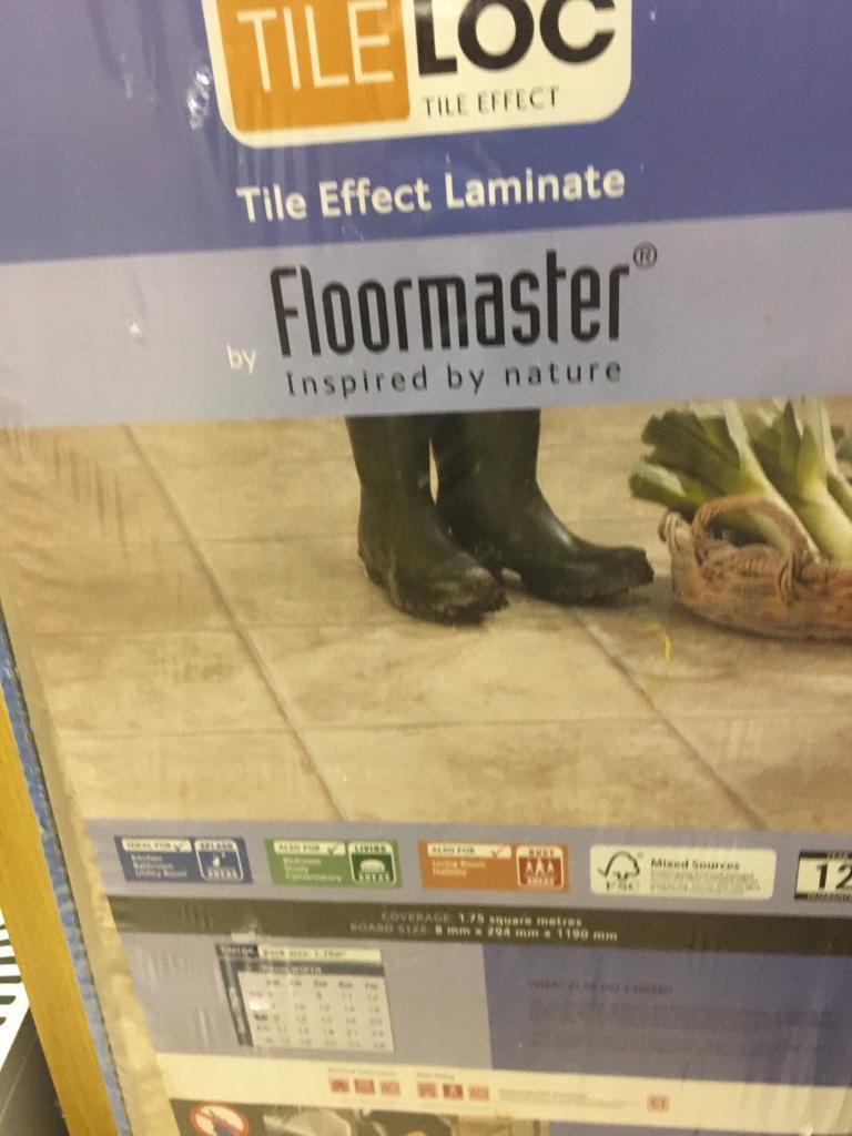 Tile effect laminate flooring in locks heath hampshire gumtree tile effect laminate flooring doublecrazyfo Choice Image