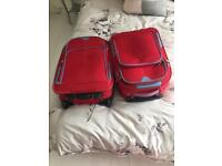 Two hand luggage suitcase