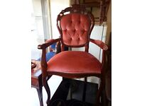 Lovely italian dining room armchair. excellent condition.