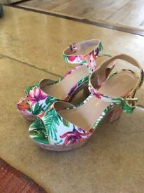 UK Size 3 Dorothy Perkins Wedge Sandals (Brand New, never warn) - still has label on