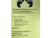Chiropodist/podiatrist