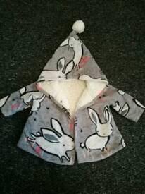 Next 3-6months fleece lined girls coat