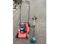 Swap Honda mount field petrol lawn mower self propelled plus makita strimmer