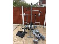 York Fitness MultiUse Workout Bench With 90kg Weights. Can Deliver