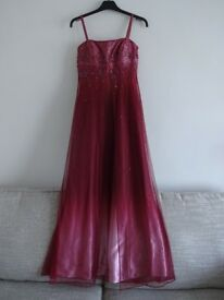 Pink floorlength beaded prom / party / evening / ballgown dress