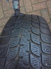 2 x TYRES WINTER USED 205/60/16 4-5mm