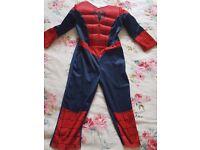 Spiderman costume- 3-4 years