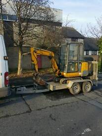 man and mini or micro digger preston blackburn bolton chorley leyland lancaster burnley southport