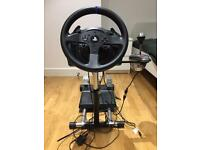 Thrustmaster T300 RS with Pedals and Shifter and Wheel Stand Pro for ps4