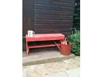 Gorgeous deep-red PAINTED 'memories' two seater garden bench with Heart's...