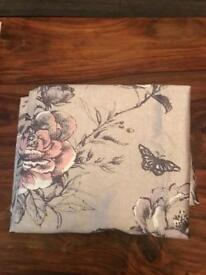 Beautiful floral curtains and x1 cushion