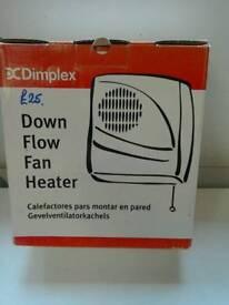 New wall hung Dimplex Fan heater.