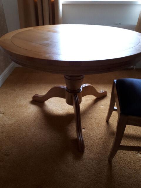 Solid Oak Pedestal Leg Dining Table Chapeltown Sheffield In South Yorkshire Gumtree