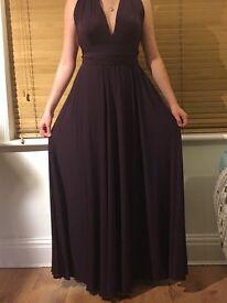 Worn once plum purple prom dress needs new home