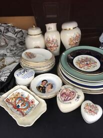 Royal Memorabilia plates and mugs loads job lot