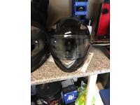 Gloss black motorcycle helmet small