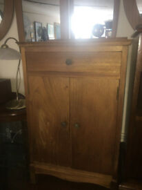Lovely Little Vintage Retro Oak Utility Bedside Table