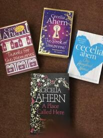 4 Cecelia Ahern books, great condition