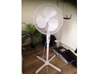White Pedestal Fan