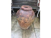 Large, Vintage Weathered Greek style Terracotta Pot