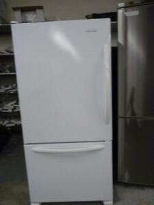176- Refrigerateur Frigo Blanc KITCHEN AID 32''  White Refrigerator Fridge