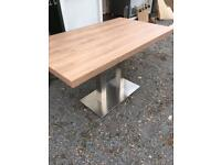 Oak laminate dining table