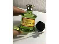 Crabtree & Evelyn Neapolitan Bergamot Eau De Cologne With Black Mesh Atomizer Bulb