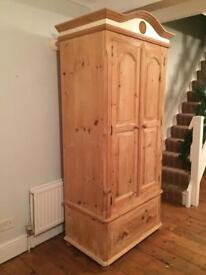 Solid Pine wardrobe (free local delivery)