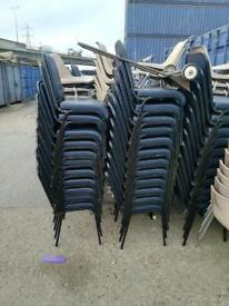 468 High quality stacking chairs reception waiting room etc.....just £7 each