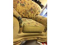 TWO SINGLE SEATER SOFAS AND ONE 3 SEATER SET IN VERY TIDY CONDITION