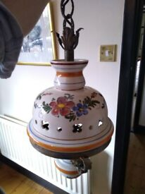 Beautiful old Portuguese ceramic light set