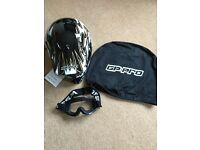 Gp Pro GPS GP RACER MOTORCYCLE HELMET With WSGG Motocross Goggles - New With Tags