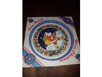 Hand painted xmas plate from italy