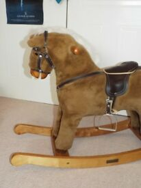 Nursery Mamas and Papas Rocking Horse in pristine condition for toddler