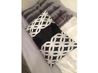 Black decor cushion