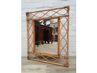 Vintage Bamboo Wall Mirror (DELIVERY AVAILABLE)
