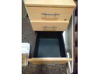 Great condition wood finish pedestal under-desk drawer unit.