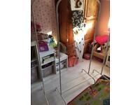 2 x solid clothes rails