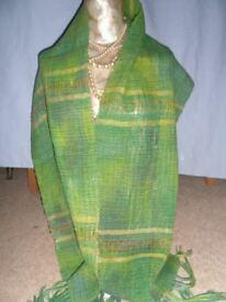 Australian original hand woven scarf/stole/wall hanging