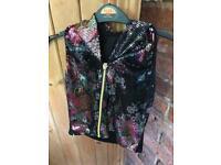 Dance sleeveless jacket sequin deign