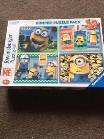 Minions bumper puzzle pack