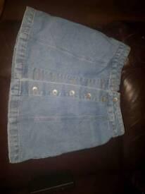 Age 13 new look denim skirt