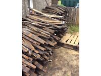 FIREWOOD SOLID OAK WHISKY STAVES CUT TO SIZE 1/4 1/2 or FULL TONNE LOADS